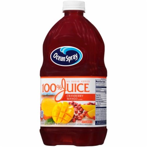 Ocean Spray No Sugar Added 100% Cranberry-Mango Juice Perspective: right