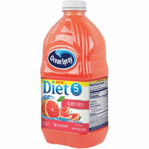 Ocean Spray Diet Ruby Red Grapefruit Juice Drink Perspective: right