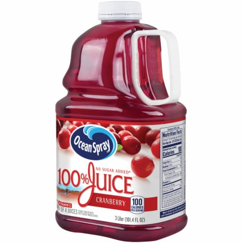 Ocean Spray 100% Cranberry Juice Perspective: right