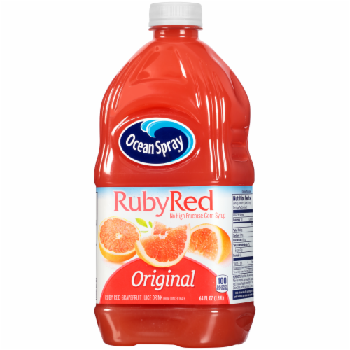 Ocean Spray Original Ruby Red Grapefruit Juice Drink Perspective: right