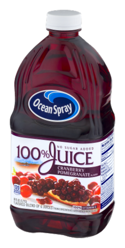 Ocean Spray 100% Cranberry Pomegranate Juice Perspective: right