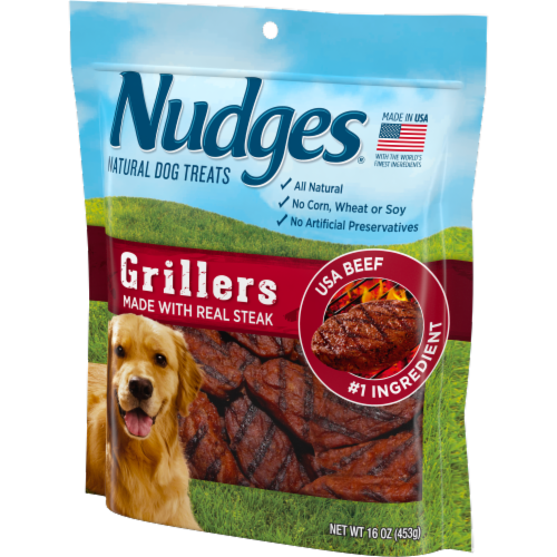 Nudges Grillers Real Beef Natural Dog Treats Perspective: right
