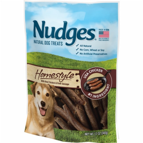 Nudges Homestyle Chicken and Pork Natural Dog Treats Perspective: right