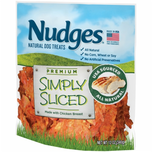 Nudges® Simply Sliced Chicken Breast Natural Dog Treats Perspective: right