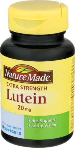 Nature Made Lutein 20 mg Softgels Perspective: right