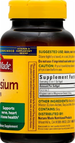 Nature Made Magnesium Softgels 250mg Perspective: right