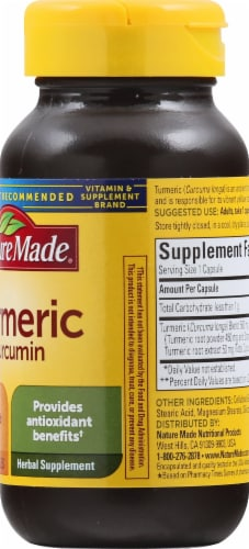 Nature Made Turmeric Curcumin Capsules 500mg 60 Count Perspective: right