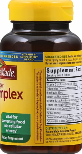 Nature Made Super B-Complex Tablets 175 Count Perspective: right