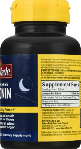 Nature Made® Extended Release Melatonin Tablets Perspective: right