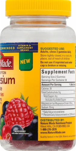 Nature Made Magnesium Gummies 200mg Perspective: right