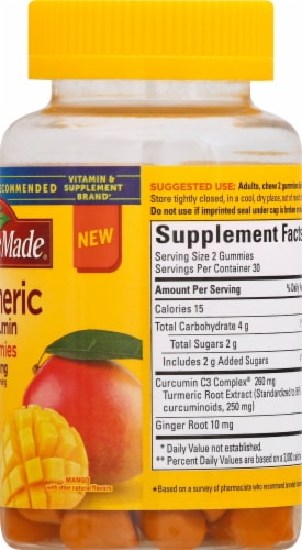 Nature Made Turmeric Curcumin Gummies Perspective: right