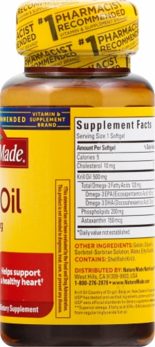 Nature Made Krill Oil Softgels 500mg Perspective: right