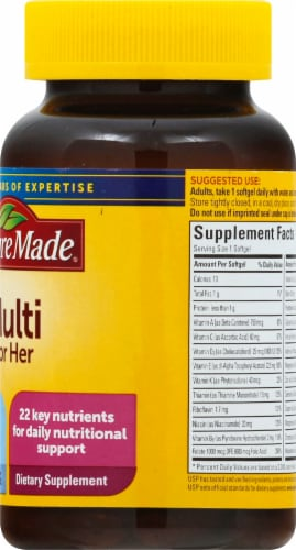 Nature Made Women's Multi Softgels Perspective: right