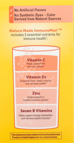 Nature Made Immune Max Orange Flavored Fizzy Drink Mix Packets Perspective: right
