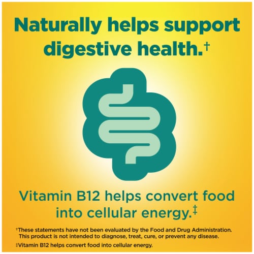 Nature Made Raspberry & Cherry Flavored Digestive Probiotic + Energy B12 Adult Gummies Perspective: right