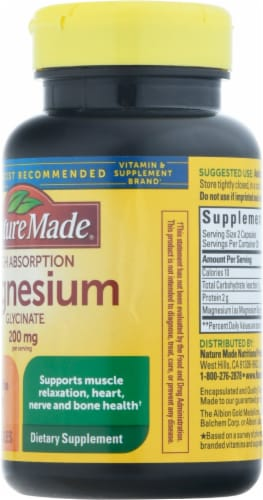 Nature Made® Magnesium Glycinate Capsules Perspective: right
