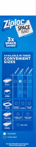 Ziploc Space Bag Large Flats Vacuum Seal Bags - 3 Pack Perspective: right
