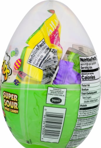 Warheads Sour Scrambler Egg Perspective: right