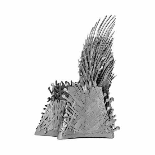 Fascinations Metal Earth ICONX 3D Metal Model Kit Game of Thrones Iron Throne Perspective: right