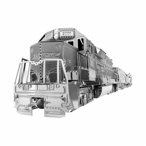 Fascinations Metal Earth Freight Train 3D Metal Model Kit Perspective: right