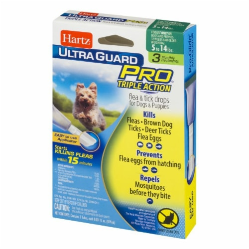 Hartz Ultra Guard Pro Triple Action Flea and Tick Drops for Dogs 5- 14 Lbs Perspective: right