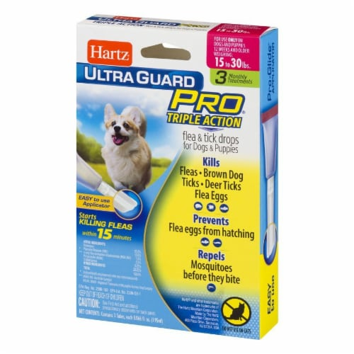 Hartz Ultra Guard Pro Triple Action Flea and Tick Drops for Dogs 15-30 Lbs Perspective: right