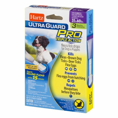 Hartz Ultra Guard Pro Triple Action Flea and Tick Drops for Dogs 31-60 Lbs Perspective: right