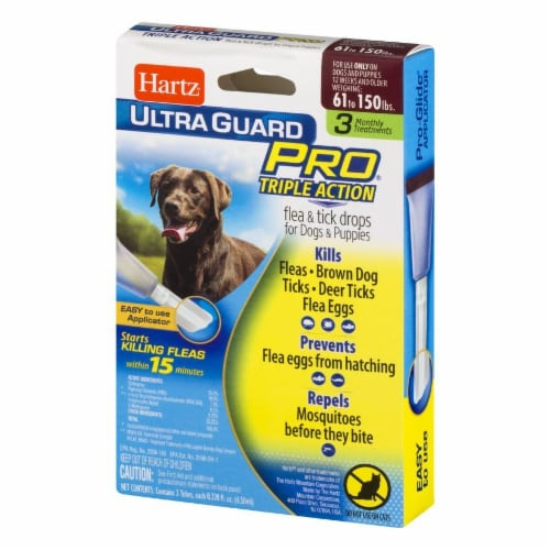 Hartz Ultra Guard Pro Triple Action Flea and Tick Drops for Dogs 61-150 Lbs Perspective: right