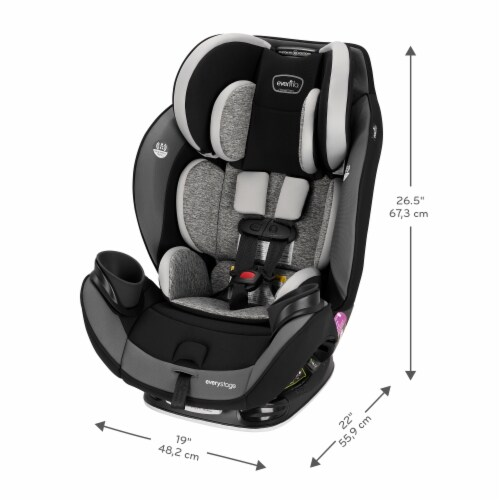 Evenflo EveryStage DLX All-in-One Kids Rear Facing Convertible Car Seat, Canyons Perspective: right