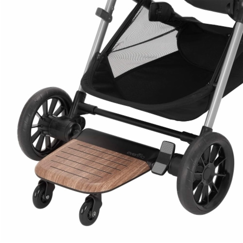 Evenflo Stroller Stand and Ride Rider Board Accessory Attachment Only, Wood Perspective: right