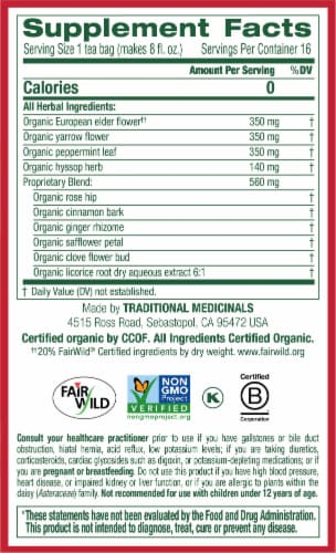 Traditional Medicinals Gypsy Cold Care Elderflower Spice Tea Bags 16 Count Perspective: right
