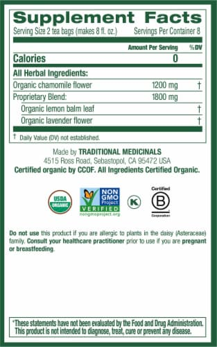 Traditional Medicinals Organic Chamomile with Lavender Tea Bags Perspective: right