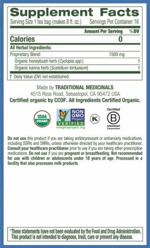 Traditional Medicinals Kanna Honeybush Organic Cup of Sunshine Tea Perspective: right