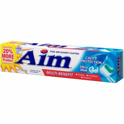 Aim Multi-Benefit Cavity Protection Ultra Mint Gel Toothpaste Perspective: right
