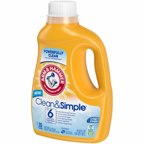 Arm & Hammer Crisp & Clean Clean & Simple Laundry Detergent Perspective: right