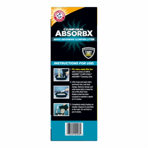 Arm & Hammer™ Clump & Seal AbsorbX Multi-Cat Unscented Litter Perspective: right