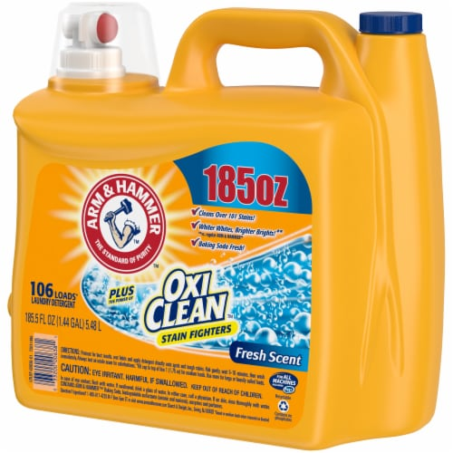 Arm & Hammer Plus Oxi Clean Fresh Scent Liquid Laundry Detergent Perspective: right