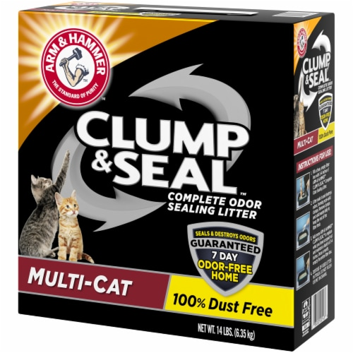 Arm & Hammer Clump & Seal Multi Cat Complete Odor Sealing Litter Perspective: right