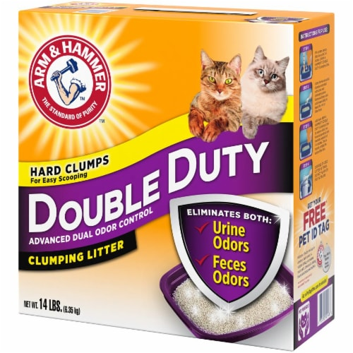 Arm & Hammer Double Duty Cat Clumping Litter Perspective: right