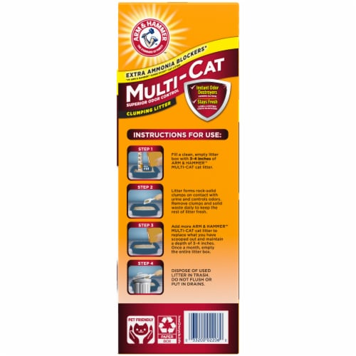 Arm & Hammer Multi-Cat Extra Strength Clumping Cat Litter Perspective: right