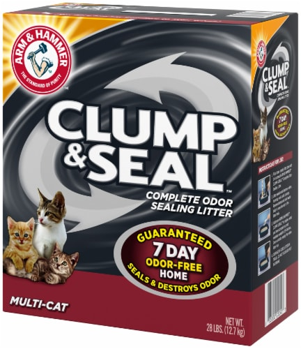 Arm & Hammer Clump & Seal Multi-Cat Complete Odor Sealing Cat Litter Perspective: right