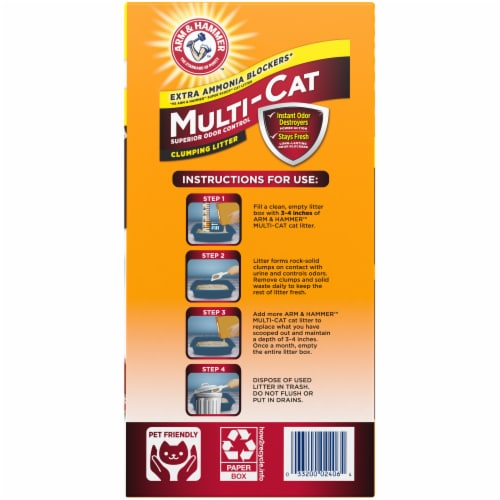 Arm & Hammer Multi-Cat Clumping Litter Perspective: right