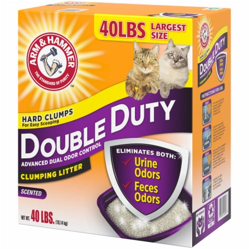 Arm & Hammer Double Duty Advanced Dual Odor Control Scented Clumping Cat Litter Perspective: right