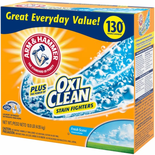 Arm & Hammer Plus Oxi Clean Fresh Scent Laundry Detergent Perspective: right