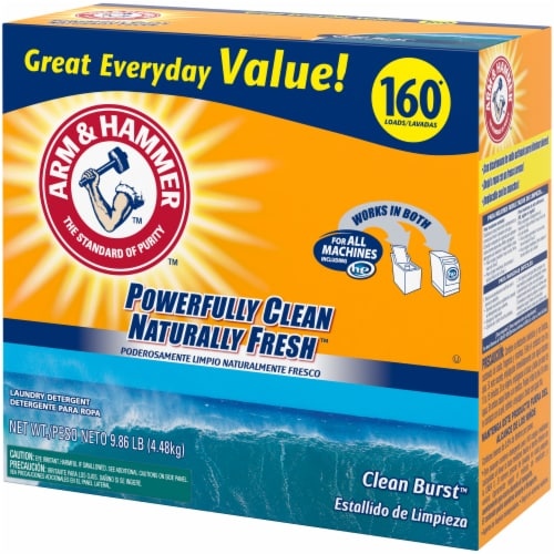 Arm & Hammer Clean Burst Laundry Detergent Perspective: right