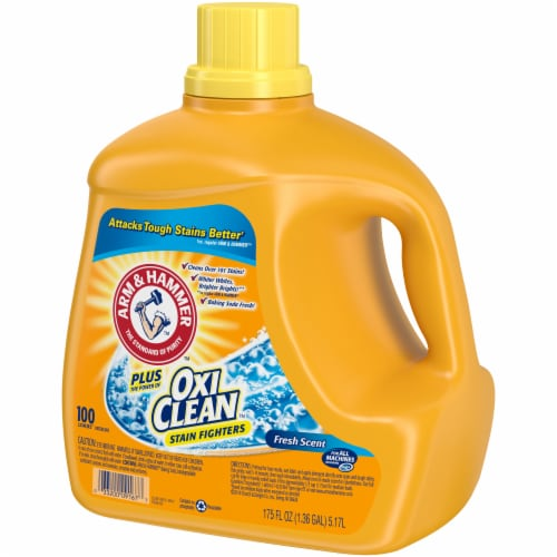 Arm & Hammer Plus OxiClean Stain Fighters Fresh Scent Laundry Detergent Perspective: right