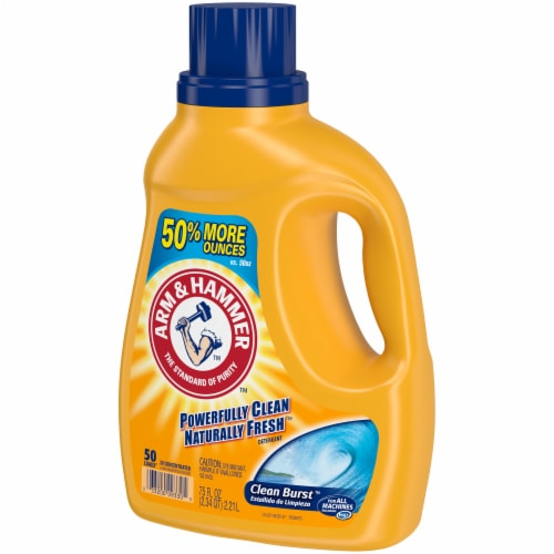 Arm & Hammer Clean Burst Liquid Laundry Detergent Perspective: right