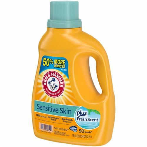 Arm & Hammer Sensitive Skin Plus Fresh Scent Liquid Laundry Detergent Perspective: right
