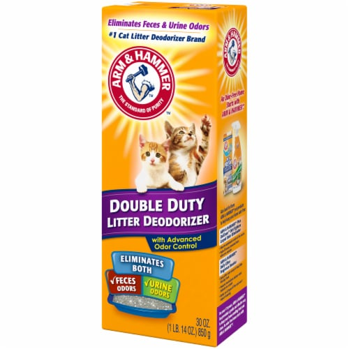 Arm & Hammer Double Duty Cat Litter Deodorizer with Advanced Odor Control Perspective: right