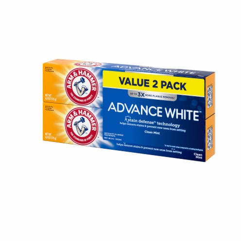 Arm & Hammer Advance White Extreme Whitening Clean Mint Toothpaste Twin Pack Perspective: right